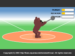 The Hammer Throw(Flash 3D Hammer Throwing Online Game)
