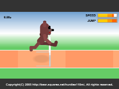 The 110m Hurdles(Flash 3D 110m Hurdling Online Game)