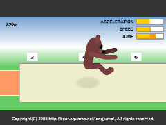 The Long Jump(Flash 3D Long Jumping Online Game)