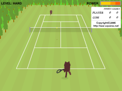 Bear Open Tennis(Flash 3D Tennis Online Game)