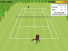 Bear Open Tennis(Flash 3D Tennis Online Game)